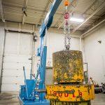Counterbalance Floor Crane with Custom WInch Lift
