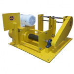 Industrial Winch with Guided Spooling