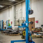 Manual Lift Truck with Powered Winch Lift