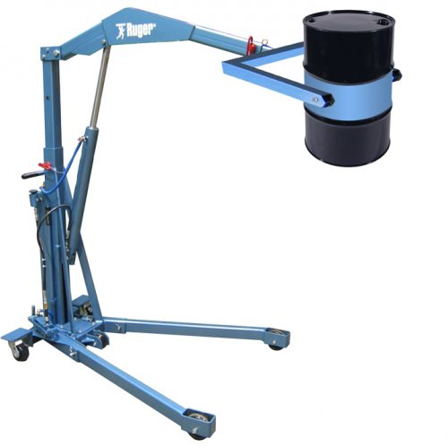 Foldable Drum Handling Crane, 55 Gallon
