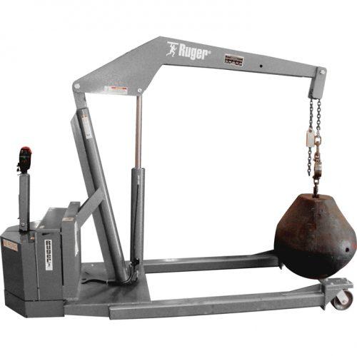 Stainless Steel Standard Straddle Powered Floor Crane, Carbon Steel