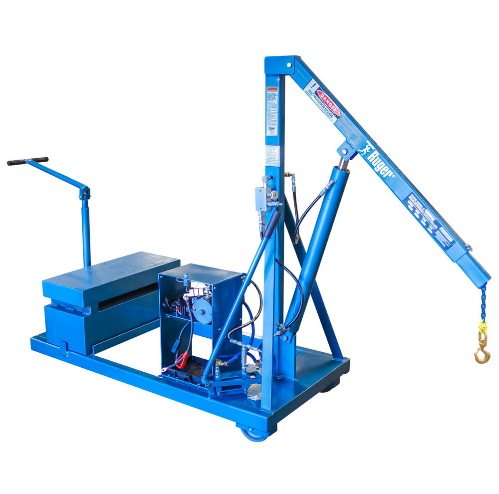 Counterbalanced Floor Crane with Power Pak