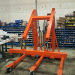 Custom Floor Crane with Spreader Bar